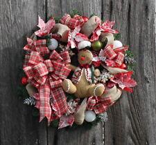 Christmas GINGERBREAD MAN Door Wreath