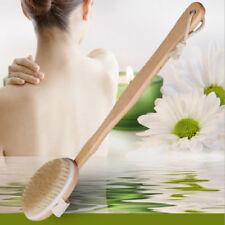Natural Bristle Exfoliation Brush Body Massager Bath Shower Scrubber Hot New