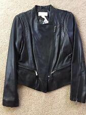 Brand New Michael Kors Leather Moto  Jacket Size Medium
