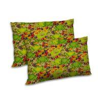 "Satin Frogs Print Home Decor Throw Pillow Case Rectangular Cushion Cover  12x18"""