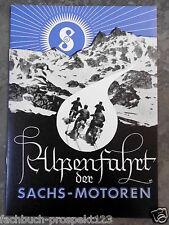 SACHS ALPENFAHRT 1936 FICHTEL & SACHS SCHWEINFURT MOTORRAD OLDTIMER SAMMLER