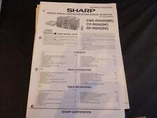 Original Service Manual Sharp CMS-R600H CP-R600 RP-R600