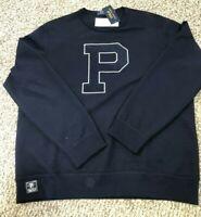 Polo Ralph Lauren Men's Sz M Navy Blue P Graphic Crew Neck Pullover Sweatshirt