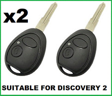 2 x Remote Car Key Shell  Suitable for Land Rover Discovery 2 Range Rover