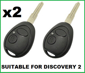2x Remote Car Key fob Shell  Suitable for Land Rover Discovery 2 Range Rover