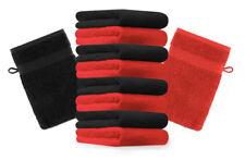 Betz 10er Pack Waschhandschuhe Premium Farbe: Rot & Schwarz Größe: 16x21 cm