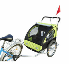 2 in1 Jogger Kinderanhänger Fahrradanhänger Kinderfahrradanhänger Grün-schwarz