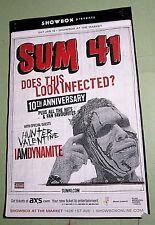 Sum 41 2013 Poster Seattle Jan 19th Concert Hunter Valentine