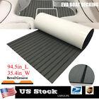 Eva Teak Decking Sheet For Yacht Marine Boat Flooring Carpet Dark Gray 35.4w