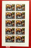 US SC #4927a $5.75 imperf. Priority Mail Glade Creek Grist Mill Sheet of 10