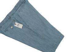 NEW! $130 Hickey Freeman Weathered Blue Chambray Shorts!  34