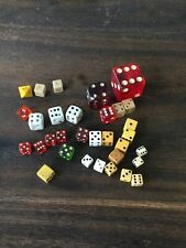 Large Lot Vintage Dice Red Green  Misc