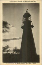 Ste. Marthe de Gaspe Quebec Lighthouse in Evening Postcard