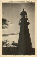 Ste. Marthe de Gaspe Quebec Lighthouse in Evening Postcard