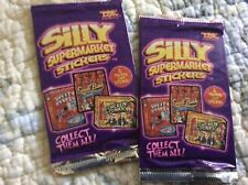 New 2008 SILLY SUPERMARKET STICKERS 2-packs UNOPENED Top Shelf Enterprises Inc.