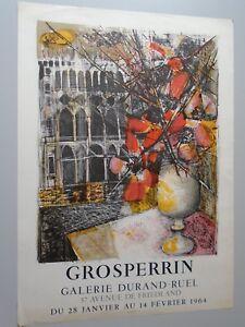 GROSPERRIN -GALERIE DURAND-RUEL (PARIS) -LITHOGRAPHIE -    53x74cm