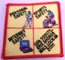Girl Scout Gs Vintage Uniform Patch Personal Sports Internet Safety 2001 #Gsrd