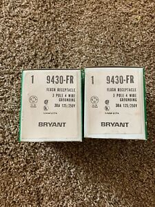 Lot Of 2 Hubbell Bryant 9430FR Straight Blade Industrial Flush Receptacle 30A