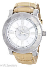 Juicy Couture Women's HRH Silver Dial Beige Leather Band Watch 1900826