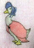 Beatrix Potter Jemima PuddleDuck sew on motif Knitting/Sewing/Crafts/card making