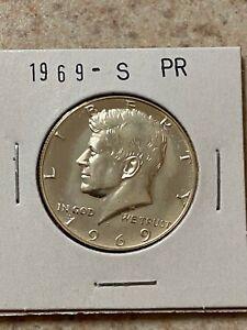1969 S PROOF KENNEDY HALF DOLLAR 40% SILVER