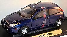 Ford Focus '98 3 portes 1998-2001 bleu bleu métallisé 1:18 Motor Max