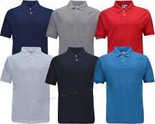 Men/Ladies Short Sleeve Plain Polo Shirt T-Shirt Top Casual Cotton Mix S - XXL