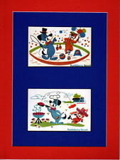 HUCKLEBERRY HOUND 2 Window PRINT PROFESSIONALLY MATTED Hanna Barbera
