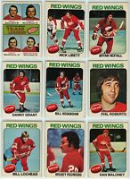 1975-76 OPC Detroit Red Wings 18 Card Team Set VG to EX+ (05-03202020)
