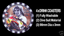 4 x BARRY SHEENE, SUZUKI,  WORLD CHAMPION, MOTORCYCLE MOTOR CYCLE DRINK COASTERS