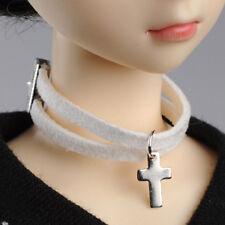 DOLLMORE BJD Necklace NEW MSD - Line Cross Choker (White)