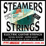 STEAMERS SUPER LIGHT GAUGE ELECTRIC GUITAR STRINGS,  USA MADE, NEW, FREE POSTAGE