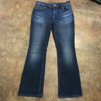 Chicos Jeans Size 00 Platinum Barely Boot Cut XS Bootcut Denim 570183006