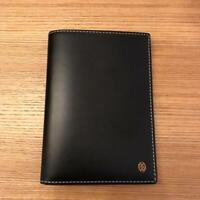 Authentic Cartier Passport Cover Holder Black Leather Unused Condition
