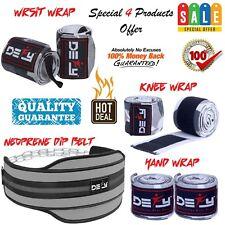 DEFY Special Offer Weightlifting Dip Belt,Hand,Wrap,Wrist Wrap & Knee Wrap Grey
