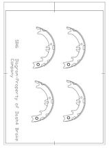 Parking Brake Shoe Set-Dash4 Rear Dash 4 Brake B846