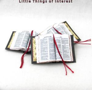 Open Book BIBLE Dollhouse Book Miniature Book 1:12 Scale Book