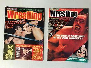 LOT (2) Ben Strong Wrestling Magazines Jan & Dec. 1974