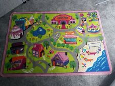 Girls Pink Floor Car Mat Rug