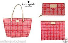 NWT KATE SPADE 3-PC SET Pebbled Ace of Spades Tote + Wallet + Pouch