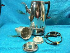 Vintage1950s Chrome Universal Coffematic Coffee Percolator EA-4428 Super Nice!!
