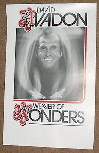 Original Magic Poster DAVID AVADON Weaver of Wonders Magician Pickpocket