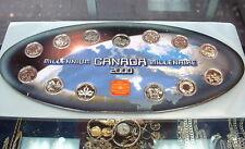 2000 ROYAL CANADIAN MINT QUARTER SET + MEDAL+ MAP BOARD