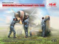 ICM 32107 - 1/32 WWII British Ground Personnel (1939-1945) (3 figures)