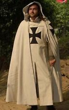 Medieval Templar Knight Crusader Tunic,Surcoat & Cloak Reenactment SCA Larp