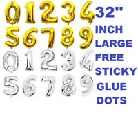 """32""""Inch Foil Balloons Number 0-9 Air Fill Balloons Birthday Party Decoration Fun"""