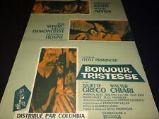 BONJOUR TRISTESSE  Deborah Kerr  David Niven  affiche cinema 1958
