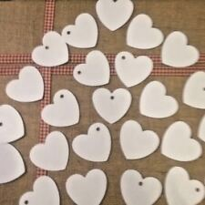 30 Pure White Hearts Gift Tags 60mm x 60mm /  Wedding / Labels