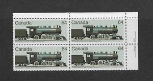 CANADA 1984 LOCOMOTIVE CORNER BLOCK - MNH.