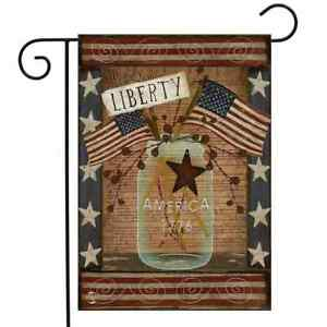 Liberty Primitive Patriotic Garden Flag Declaration of Independence 4th of July